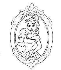 Disney Tattoo Disney Prinses Belle Kleurplaat Tattooviralcom