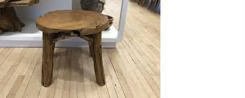 rustic round end table. Rustic Teak Round End Table/stool Table