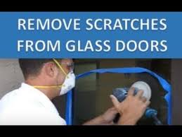 how to remove scratches from glass door