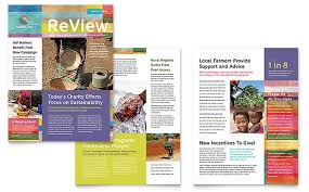 Newsletter In Word Humanitarian Aid Organization Newsletter Template Word Publisher