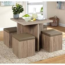 dining table with storage kitchen dining set breakfast nook table storage ottoman chairs rustic small 5 dining table with storage
