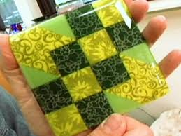 Decorating Tiles Crafts How to Make a Sunny Glass Tile Coaster HGTV 27