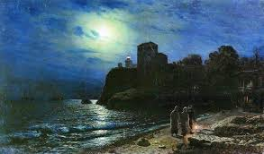 lev lagorio moonlit night by the sea 1886