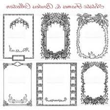 antique frame border. Vector Graphic Set With Antique Frames And Old Borders Gm Antique Frame Border