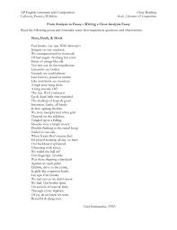 ap english literature and composition close reading calhoun