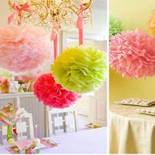 "Tissue Balls Party Decorations 100100"" Tissue Paper Pom Poms Flower Balls Wedding Birthday Party 60"