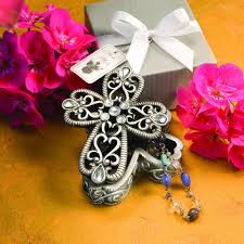 Cross Design Curio Box Favors Cross Design Curio Boxes From The Heavenly Favors Collection