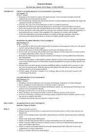 Leader Product Management Resume Samples Velvet Jobs