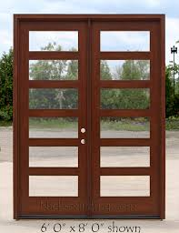 modern exterior shaker doors with clear glass