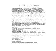 Engineering Technical Report Template Technical Reports Format Barca Fontanacountryinn Com