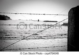 barbed wire fence concentration camp. Barbed Wire Fence In Concentration Camp - Csp4704048 L