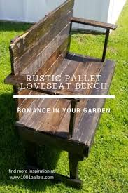 furniture of pallets. Rustic Pallet Loveseat Bench Is Perfect For Smaller Spaces Furniture Of Pallets T