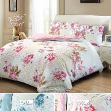 details about rose fl 100 cotton quilt duvet cover single double super king bedding set