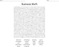 business math business math word search wordmint
