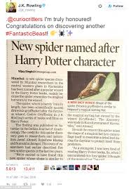 spider that looks just like harry potter s sorting hat daily  jk rowling author of the harry potter series tweeted the researchers to congratulate them on