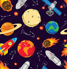 Space Pattern Awesome Cartoon Space Pattern Royalty Free Cliparts Vectors And Stock