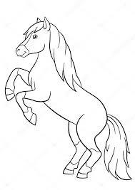Kleurplaten Boerderijdieren Mooi Paard Stockvector Ya Mayka
