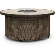 woven wicker 54 inch round fire pit oak grove rc willey furniture