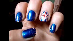 England Flag Nail Designs Sparkling English Flag Nail Art Tutorial