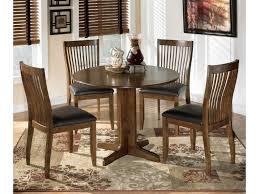 Ashley Signature Design Stuman 5 Piece Round Drop Leaf Table Set