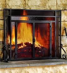large tubular fire screen screens plow hearth inside glass fireplace plans 6