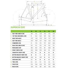 Cannondale Bike Fit Chart Cannondale Supersix Evo 105 11 Carbon Road Bike Large
