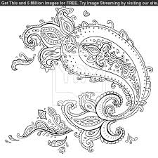 Small Picture Paisley Design Coloring Pages for Adults Printable Adult