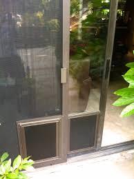 image of decorating sliding door dog door