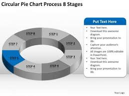 Circular Pie Chart Process 8 Stages Business Plan Executive