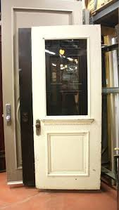 wood and glass front door solid