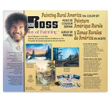bob ross painting rural america set