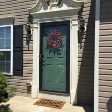 Front door makeover - Sherwin Williams Rookwood Blue Green   Doors ...