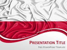 Poland Flag Powerpoint Template Presentationgo Com