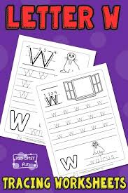 W Worksheets Free Printable Letter W Tracing Worksheets For Kids ...