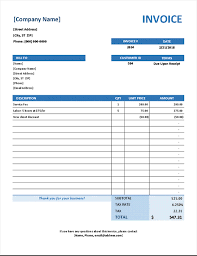 Word Billing Template Invoices Office Com