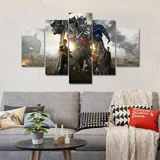 Optimus Prime Embroidery Design Transformer Robot Home Decoration Optimus Prime Canvas Posters And Prints Wall Art Canvas Painting Posters