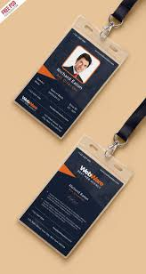 company id card templates vertical company identity card template psd psd print template