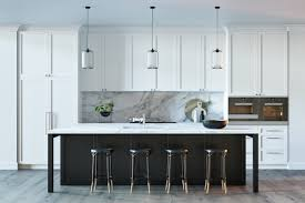 Kitchen Black Matte Bar Stools Dark Stained Island Kitchen