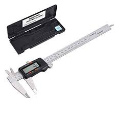 Esynic Digital Vernier Caliper 200 Mm 8 Inch Stainless Steel Electronic Caliper Fractions Inch Metric Conversion Measuring Tool For Length Width