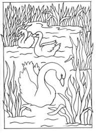 Small Picture White Swan Printable Animals Valentine Coloring Pages