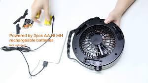 Quạt lều và đèn pin 2in1 - sử dụng cục sạc dự phòng hoặc pin sạc hoặc pin AA  - Collectif-du-chambon