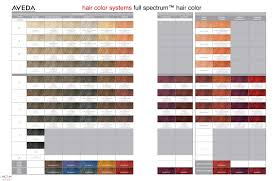 Aveda Hair Color System Full Spectrum Hair Color Chart In