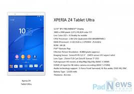 sony xperia z4 price. sony xperia z4 tablet ultra specs leaked w/ 6gb ram » yugatech | philippines tech news \u0026 reviews price