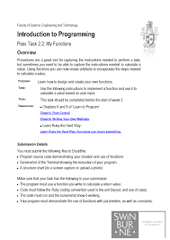 How To Make A Structure Chart For Programming 3 1t Cos10009 Introduction To Programming Swinburne