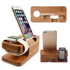 <b>Bamboo</b> Wood <b>Charger Station for</b> Apple Watch <b>Charging Dock</b> ...