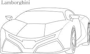 Lamborghini Car Coloring Pages At Getdrawingscom Free For