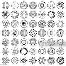 60点の曼陀羅のイラスト素材クリップアート素材マンガ素材アイコン