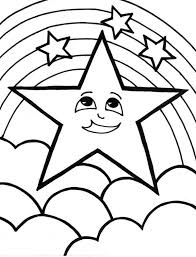 Small Picture A Cute Start and the Rainbow Coloring Page Download Print