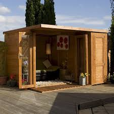 Small Picture Mercia Garden Room Summerhouse with Side Shed 10ft x 8ft Gardens
