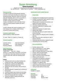 Sales Assistant Resume samples   VisualCV resume samples database CV Plaza